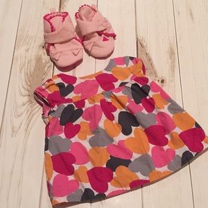 Heart Blouse and Pink Booties